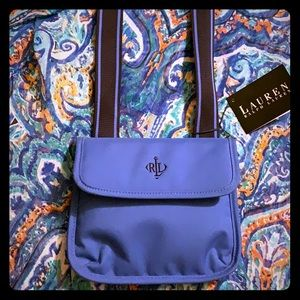 Lauren Ralph Lauren NWT Blue Crossbody Purse